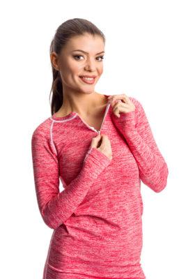 галерия безшевно облекло - дамски термо блузон в червено