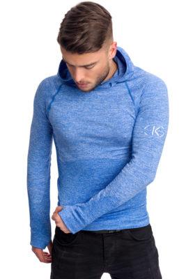 галерия безшевно облекло - термо блуза с дълъг ръкав в синьо