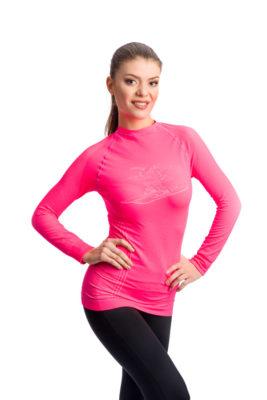 галерия безшевно облекло - дамска розова термо блуза с дълъг ръкав