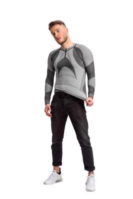 галерия безшевно облекло - мъжка термо блуза в цял размер сива
