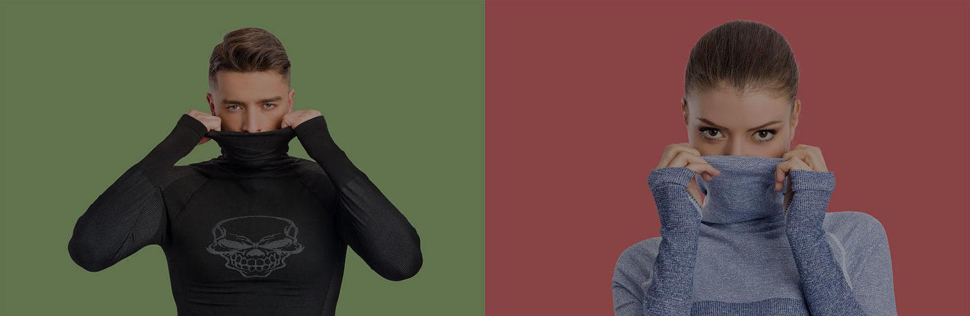термо дрехи снимка за корица с момче и момиче