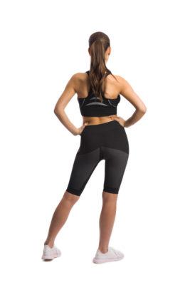 галерия безшевно облекло - дамски черен фит къс в гръб