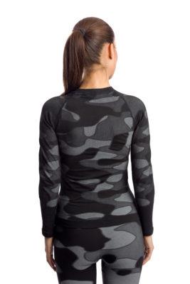 галерия безшевно облекло - пълен термо комплект - черно комо в гръб
