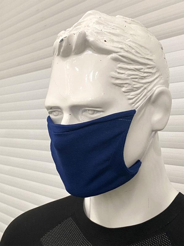 синя предпазна маска за лице
