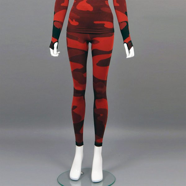 термо клин дамски червен камуфлаж - снимка 1