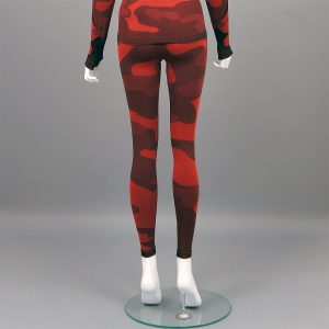 термо клин дамски червен камуфлаж - снимка 2