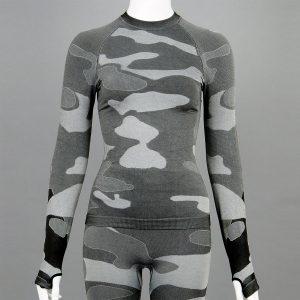 Дамска термо блуза с дълъг ръкав цвят сив камуфлаж на марката KSport - снимка 1