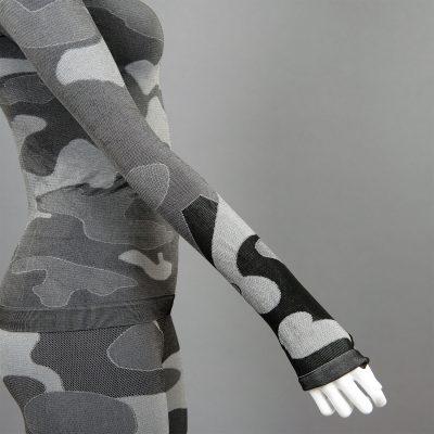 Дамска термо блуза с дълъг ръкав цвят сив камуфлаж на марката KSport - снимка 4