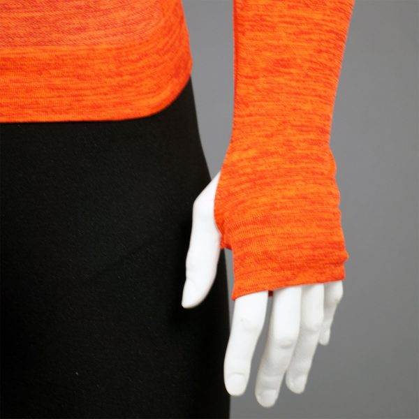 Мъжка термо блуза с качулка в оранжев цвят на марката KSport - снимка 3