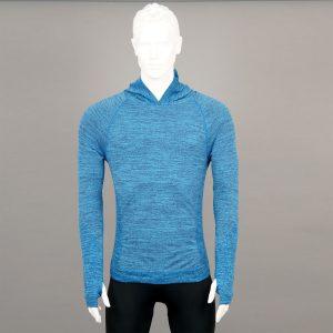 Мъжка термо блуза с качулка синя на марката KSport - снимка 1
