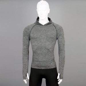 Мъжка термо блуза с качулка сив цвят на марката KSport - снимка 1