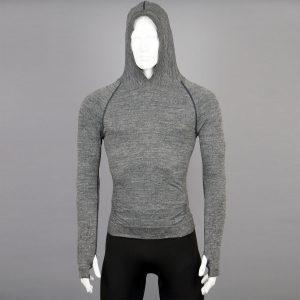 Мъжка термо блуза с качулка сив цвят на марката KSport - снимка 2