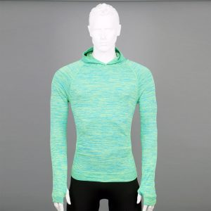 Мъжка термо блуза с качулка зелен цвят марка KSport - снимка 1