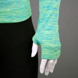 Мъжка термо блуза с качулка зелен цвят марка KSport - снимка 2