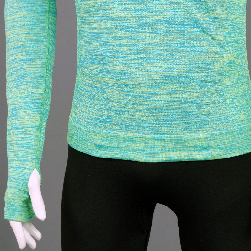 Мъжка термо блуза с качулка зелен цвят марка KSport - снимка 4 детайл десен ръкав