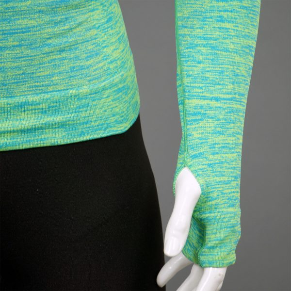 Мъжка термо блуза с качулка зелен цвят марка KSport - снимка 5 детайл ляв ръкав