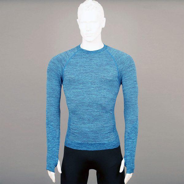 Мъжка термо блуза в цвят син марка KSport - снимка 1