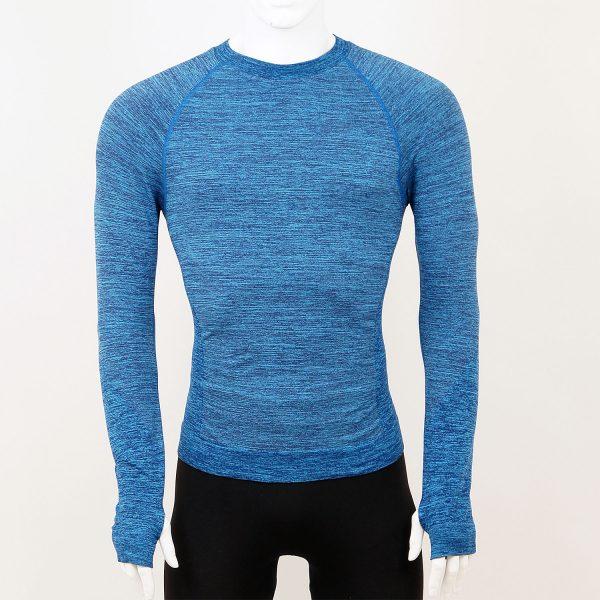 Мъжка термо блуза в син цвят марка KSport - снимка 3