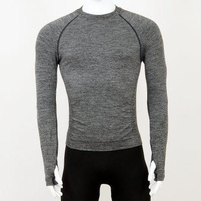Мъжка термо блуза в сив цвят на марката KSport - снимка 1