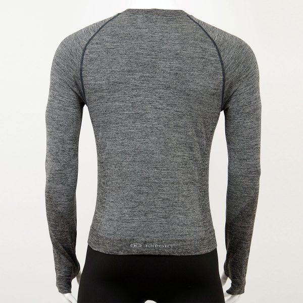 Мъжка термо блуза в сив цвят на марката KSport - снимка 2