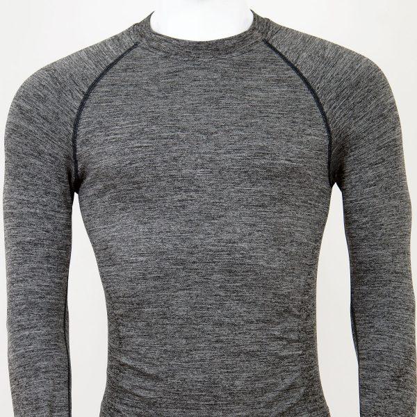 Мъжка термо блуза в сив цвят на марката KSport - снимка 3