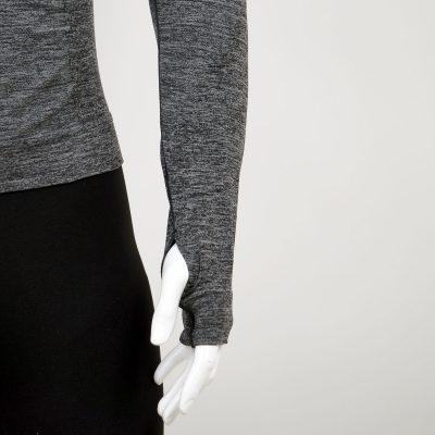 Мъжка термо блуза в сив цвят на марката KSport - снимка 4