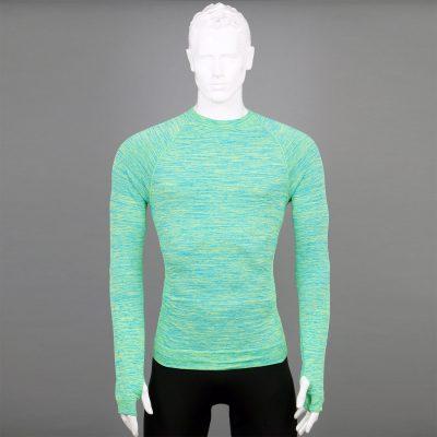 Мъжка термо блуза зелена марка KSport - снимка 1