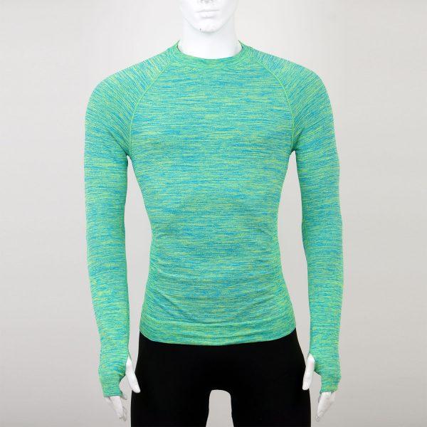 Мъжка термо блуза зелена марка KSport - снимка 3