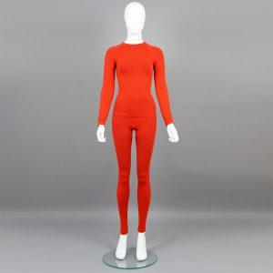 Червен комплект дамско термо бельо марка KSport - снимка 1