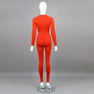 Червен комплект дамско термо бельо марка KSport - снимка 2