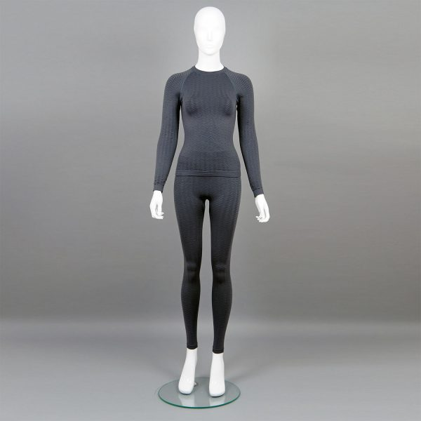 сив комплект дамско термо бельо марка KSport - снимка 1