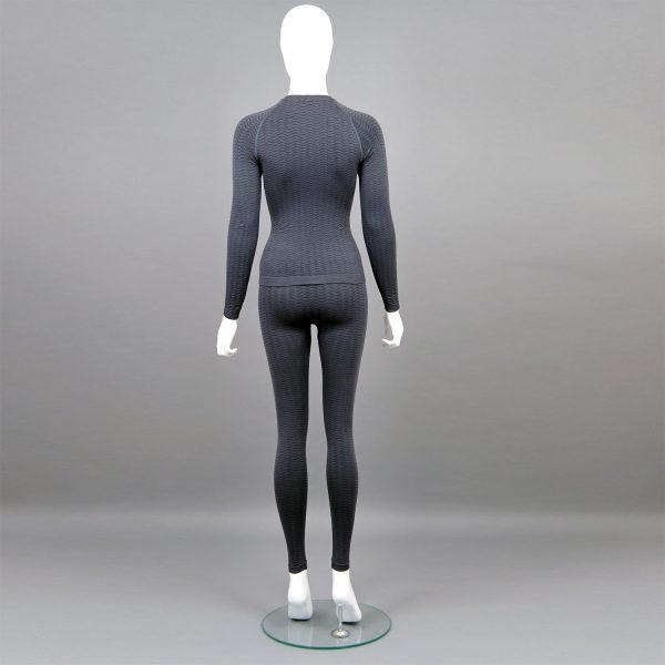 сив комплект дамско термо бельо марка KSport - снимка 2