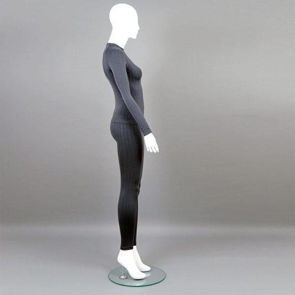 сив комплект дамско термо бельо марка KSport - снимка 3