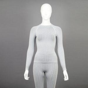 светлосив комплект дамско термо бельо марка KSport - снимка 4