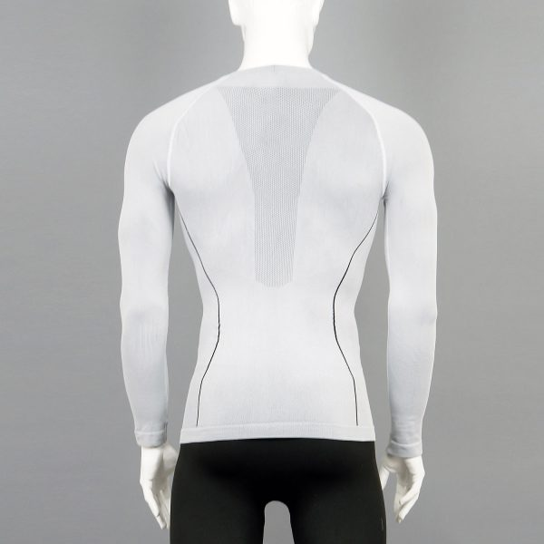 Мъжка термо блуза в бял цвят на марката KSport - снимка 2
