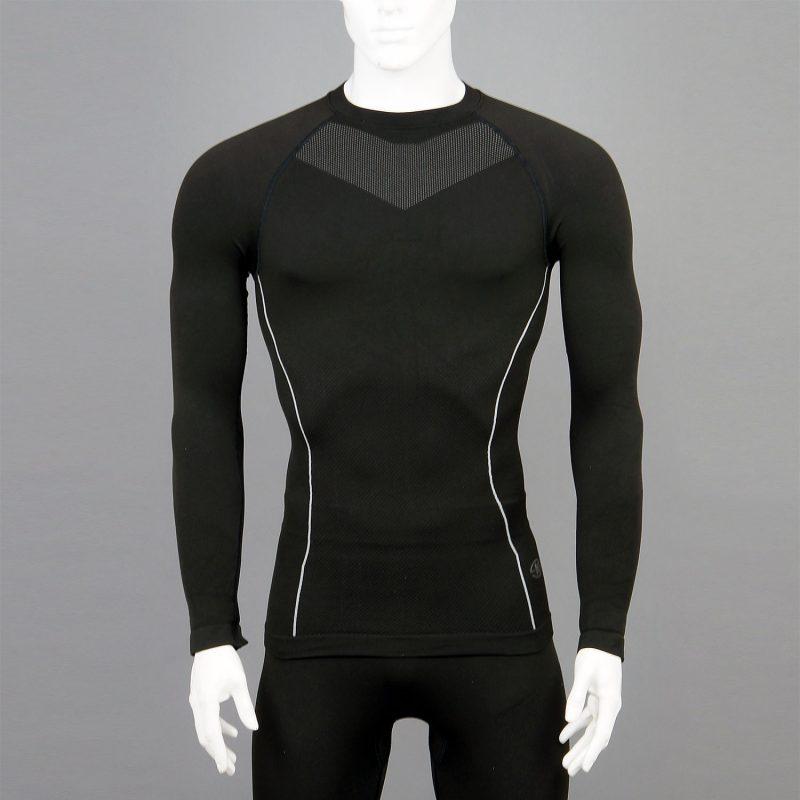 Мъжка термо блуза в черен цвят на марката KSport - снимка 1