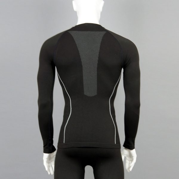 Мъжка термо блуза в черен цвят на марката KSport - снимка 2