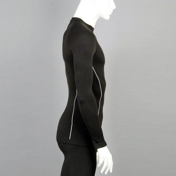 Мъжка термо блуза в черен цвят на марката KSport - снимка 3