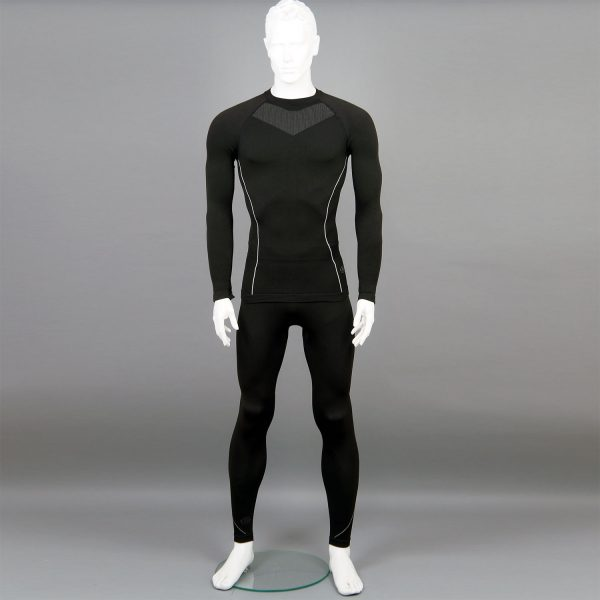 черен комплект мъжко термо бельо на марката KSport - снимка 1