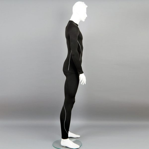 черен комплект мъжко термо бельо на марката KSport - снимка 2