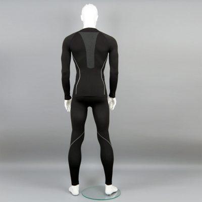 черен комплект мъжко термо бельо на марката KSport - снимка 4