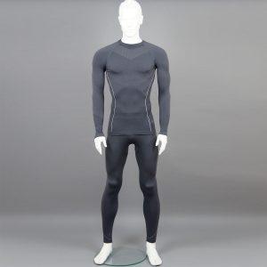 сив комплект мъжко термо бельо на марката KSport - снимка 1