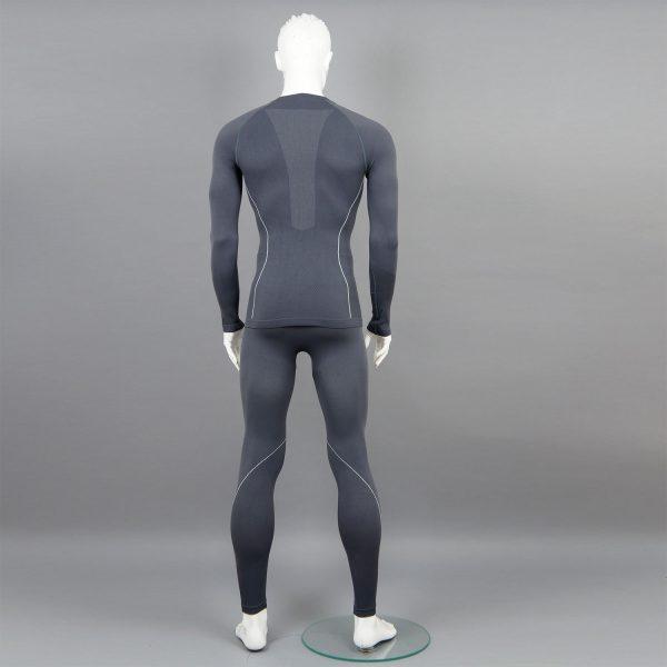 сив комплект мъжко термо бельо на марката KSport - снимка 2