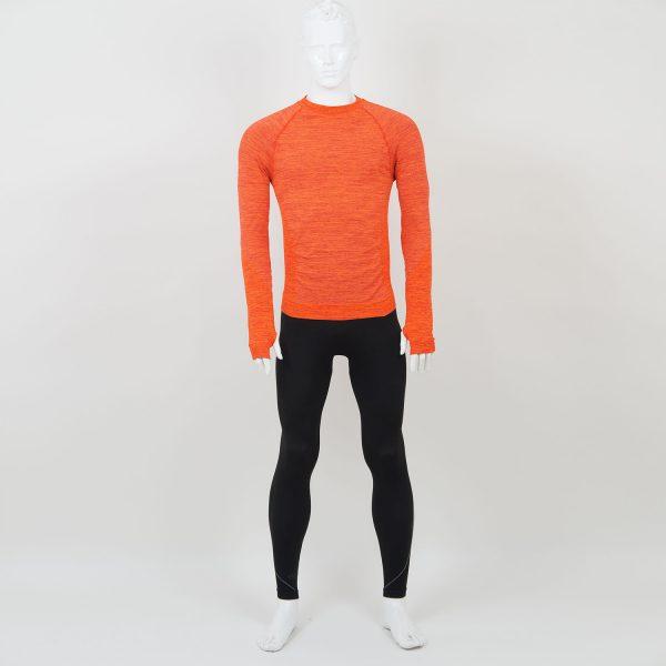 Мъжка термо блуза оранжева марка KSport - снимка 3