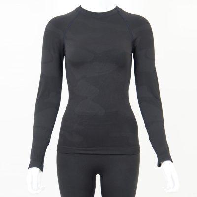Дамска термо блуза с дълъг ръкав тъмносиво комо - снимка 1