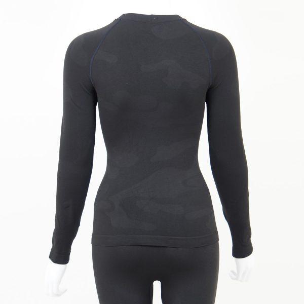 Дамска термо блуза с дълъг ръкав тъмносиво комо - снимка 2