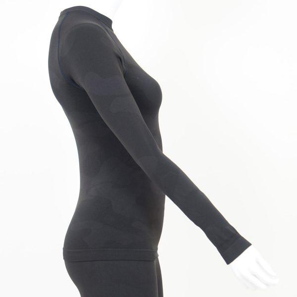 Дамска термо блуза с дълъг ръкав тъмносиво комо - снимка 3