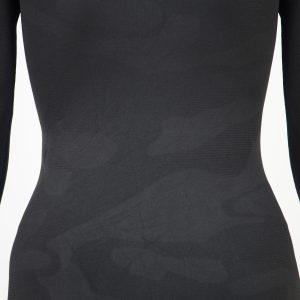 Дамска термо блуза с дълъг ръкав тъмносиво комо - снимка 4