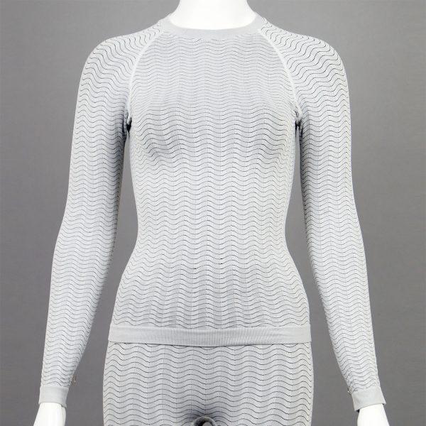 Дамска термо блуза в светлосив цвят на марката KSport - снимка 1