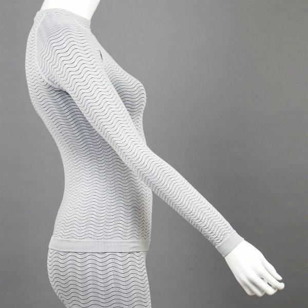 Дамска термо блуза в светлосив цвят на марката KSport - снимка 3